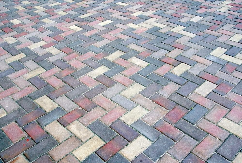 red brick pattern floor